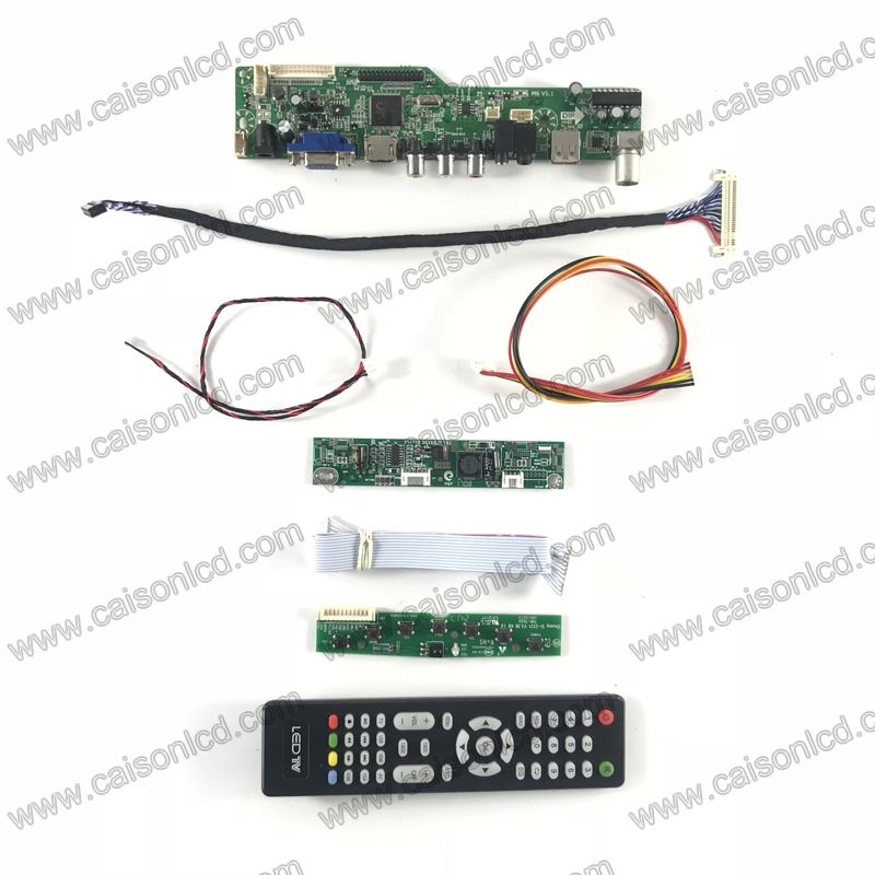 M6-V5.1 LCD TV controller board support HDMI VGA AUDIO AV USB TV for 21.5 inch 1920x1080 lcd panel M215HGE-L21 MV215FHM-N60  diy tv hdmi vga av usb audio lcd controller board work for 1920x1200 50pin lcd panel b101uan01