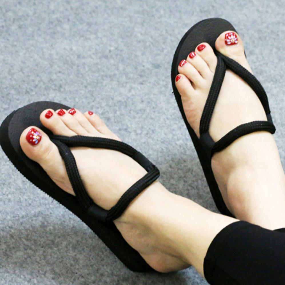 Hot Sale Women Flip-Flop Sandals 2018 Summer Footwear Slippers Shoes Female Beach Shoes Size 36-39 Home Slippers Flat Ankle 2017 hot sale women flip flop slippers female summer indoor anti slip slippers soft lightweight shoes size 36 40 available
