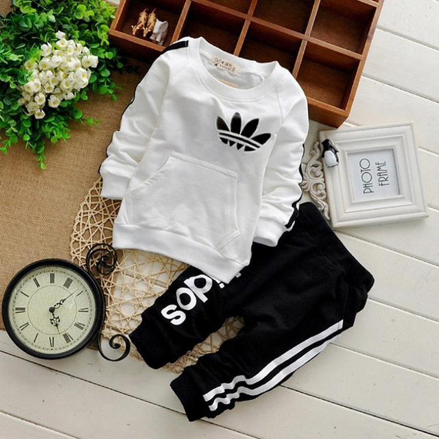 2018 Brand Baby Boy Clothing Suits Autumn Casual Baby Girl Clothes Sets Children Suit Sweatshirts+Sports pants Spring  Kids Set