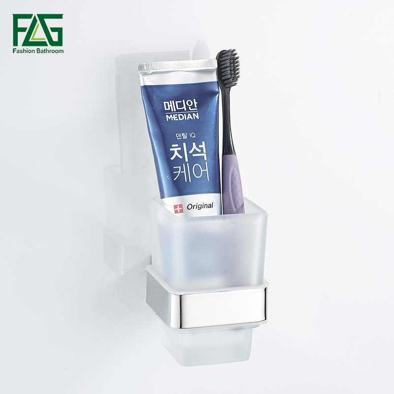 FLG Mirror Polish Toothbrush Tumbler&Cup Holder Wall Mounted Glass Cups Bathroom Accessories Toothbrush Tooth Cup Holder G120-12 free shipping sus304 stainless steel wall mounted single cup holder glass tumbler holder for toothbrushes bathroom accessories