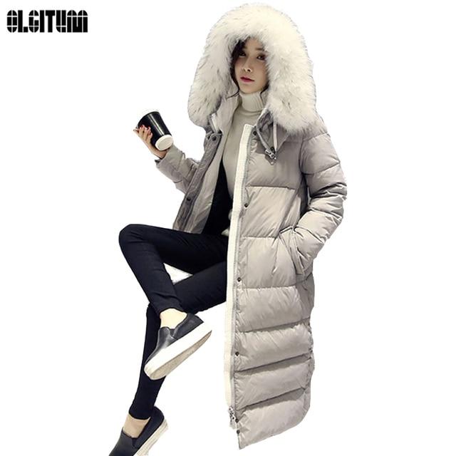 9c61a1c3e8e OLGITUM 2018 Winter Coat Women's Slim Long Parka Jackets Coats Overcoat Winter  Jacket Women Thick Down Parkas Plus Size CC036