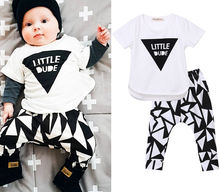 Newborn Toddler Infant Kid Baby Boy Girl Clothes T-shirt Tops + Pants Outfit Set