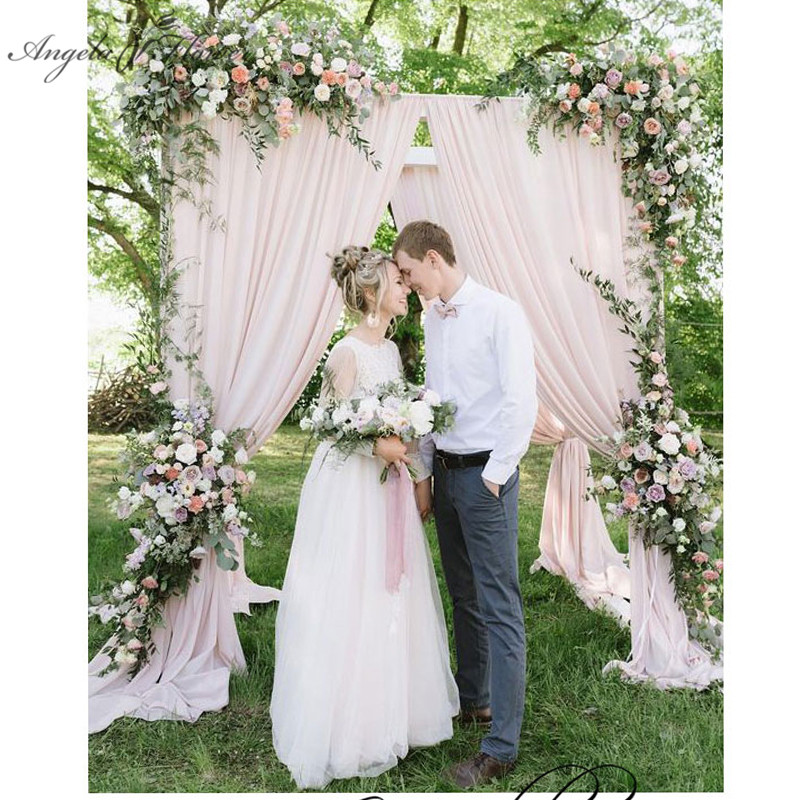 European style Wedding stage background artificial flower row Arch silk rose peony plant mix design decoration