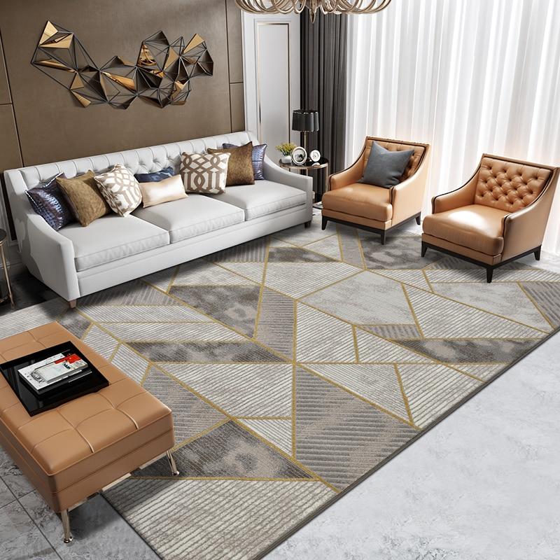 Tapis de Table de thé de luxe européen moderne minimaliste salon tapis chambre chevet maison tapis étude/salle à manger tapis nordique