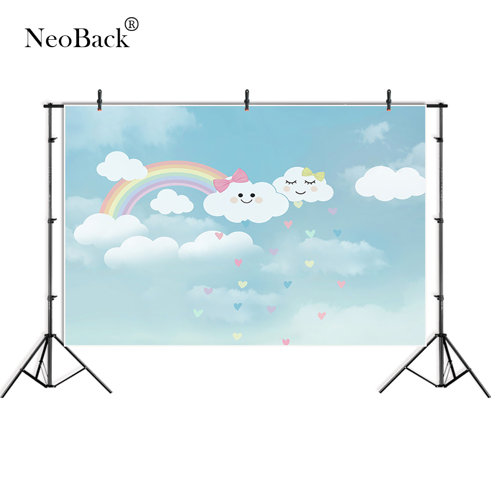 NeoBack Vinyl Photography Backdrops cloud rainbow Background Computed printed Children Backdrops for photo A3661 retro background christmas photo props photography screen backdrops for children vinyl 7x5ft or 5x3ft christmas033