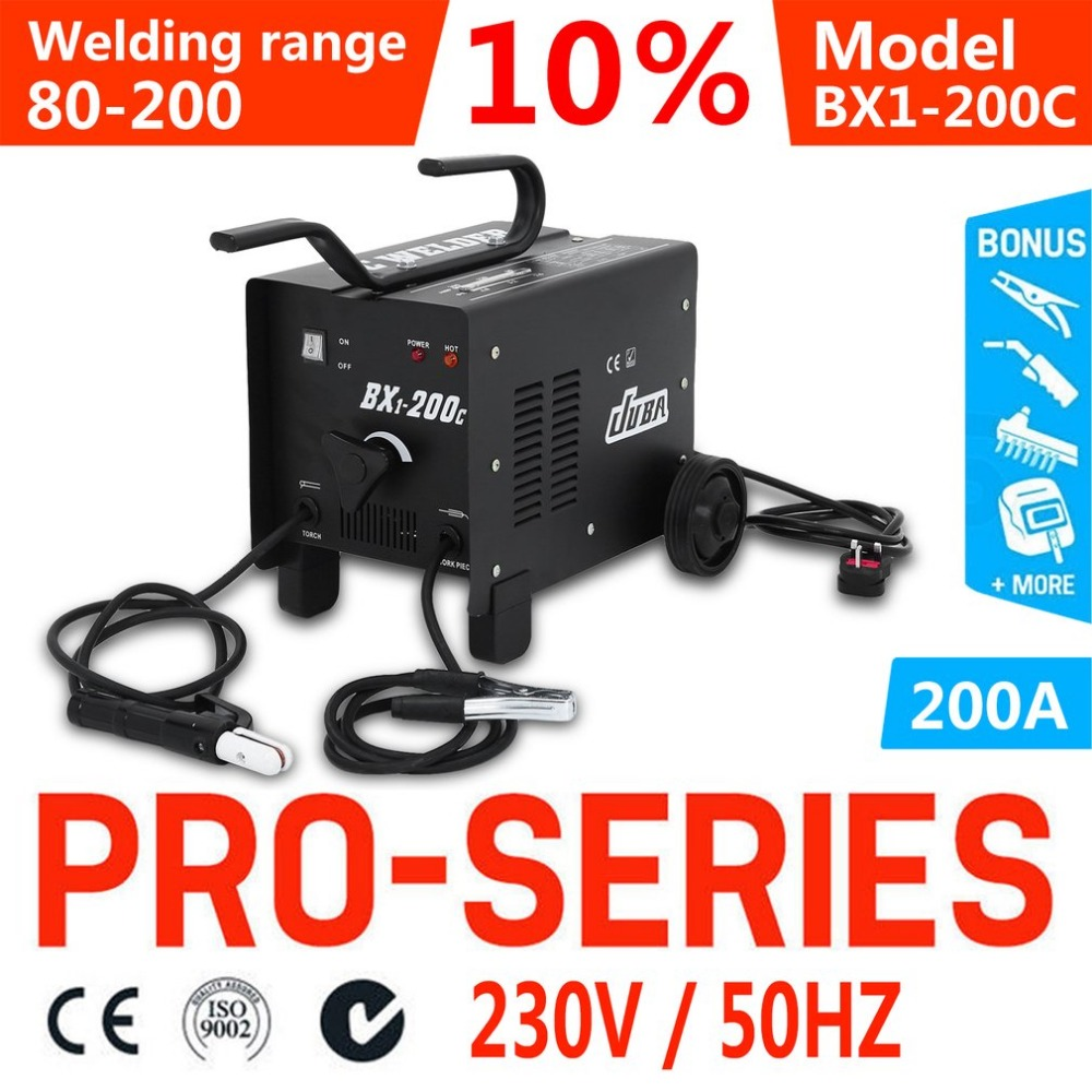 Newest BX1 200C AC Arc Welding Machine Multifunction 80 200A Current Range Weld Equipment With Welding Accessories UK Socket