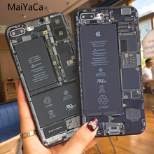 MaiYaCa TPU Phone Case For iphone 7 Circuit board Coque Shell Phone Case For Apple iphone 7 7plus X 8 8plus 6s 6 6plus 5 5s 5c