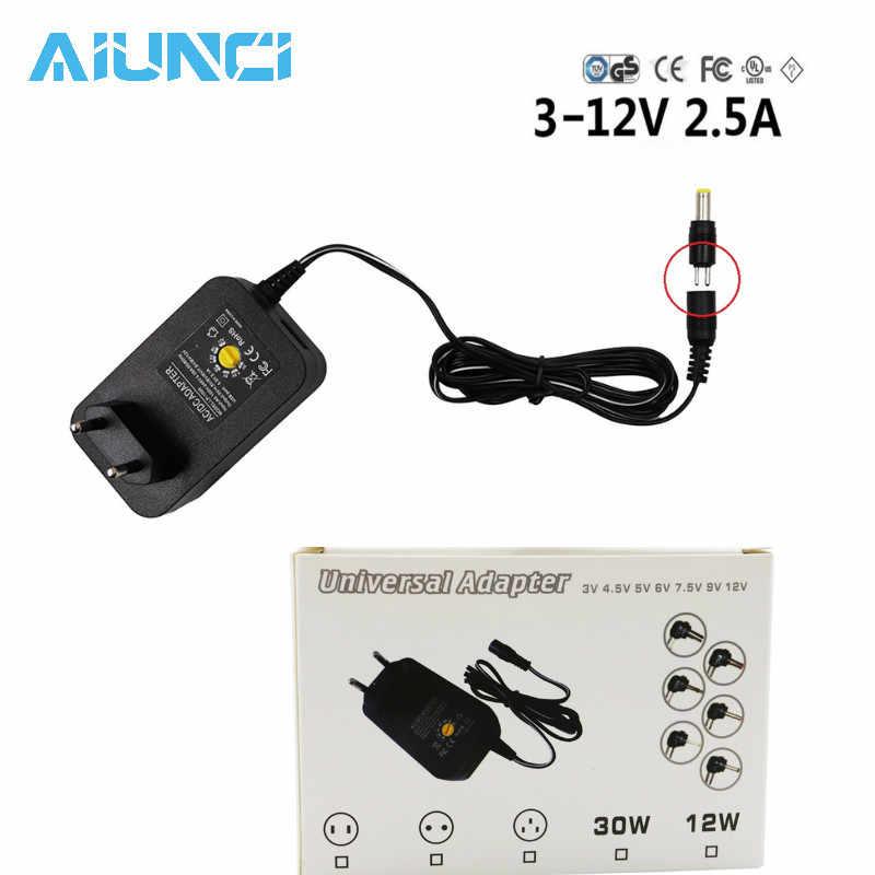 3 V 4,5 V 5 V 6 V 7,5 V 9 V 12 V 2A 2.5A адаптер переменного, постоянного тока адаптер с регулируемой мощностью Универсальный Зарядное устройство питания для светодиодной ленты 30 Вт SP 500ma 1A