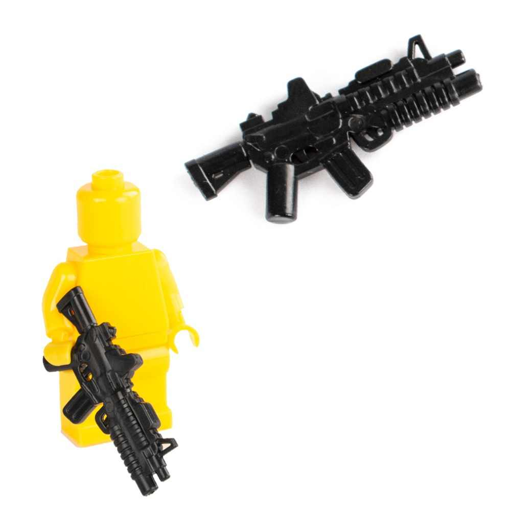 City Police Weapons Building Blocks USA Army Soldiers M16 Blocks Model  Military SWAT Minifigs Accessories Assemble Bricks Toys