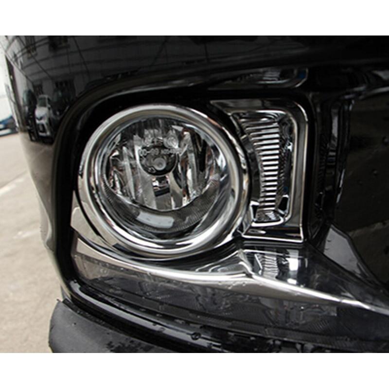 Front Fog Light Lamp Cover Trim Decoration Chrome For Toyota Highlander 2014 2015
