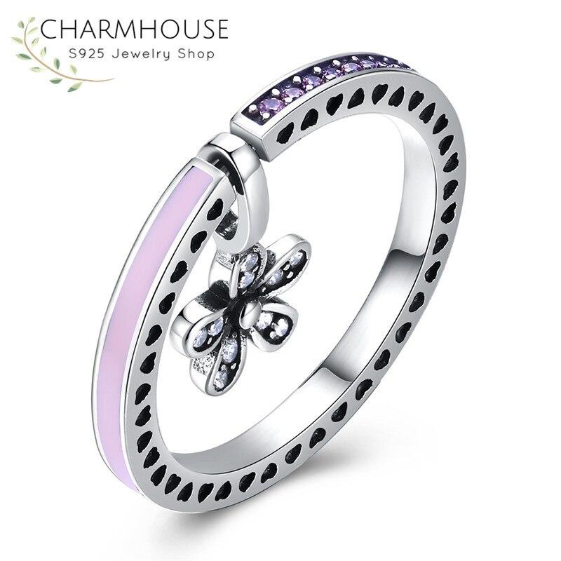 Новый Дизайн 7 цветов DIY двойного назначения прекрасный цветок кольцо с циркония Камни  ...