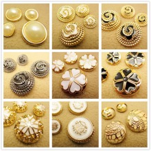 N1711211 , 10pcs Metal buttons, clothing accessories DIY handmade materials , Suit coat buttons, fashion decorative buttons