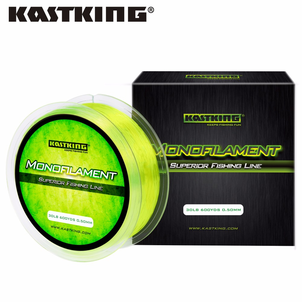 Kastking 550m nylon fishing line saltwater and freshwater for Best monofilament fishing line for saltwater