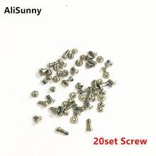 Alisunny 20 conjunto completo parafuso conjunto para iphone 7 8 plus x 7p 8 p parafusos completos kits internos peças de reposição
