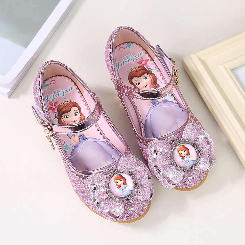 214dfb54536 ... 2018 spring and autumn new children s high heels Korean girls princess  shoes Sophia single shoes baby ...