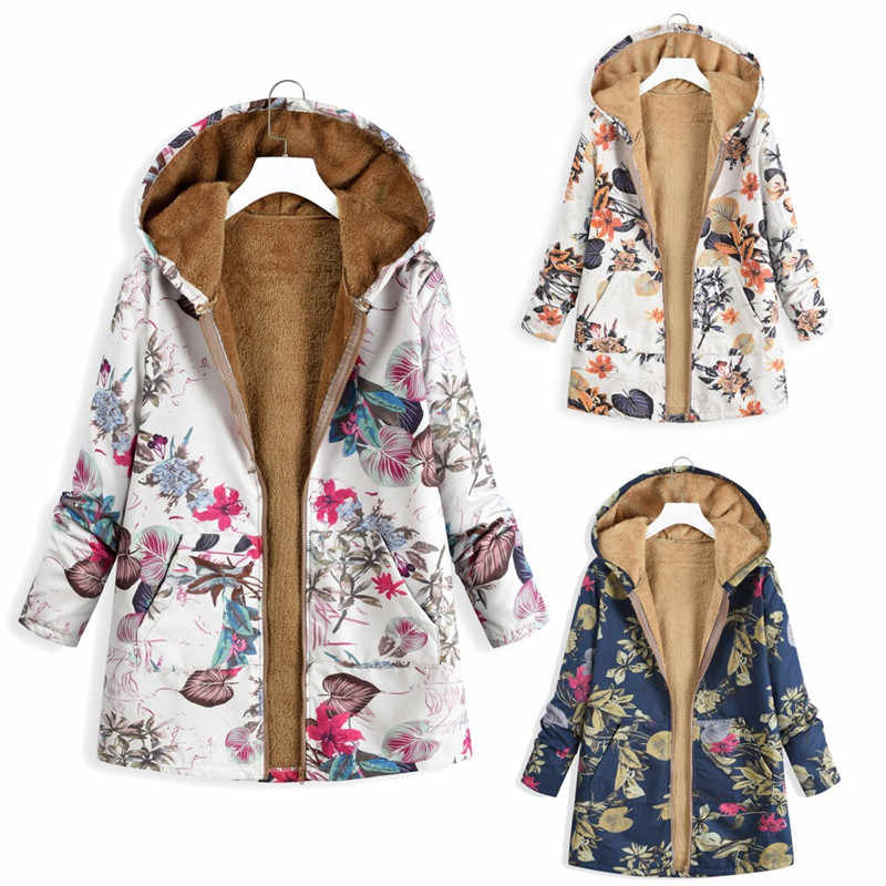 Winter Coats For Pregnant Women Warm Maternity Tops Thicken Full Printed Coats Autumn Plus Size 5XL Outwear Pregnancy Clothing
