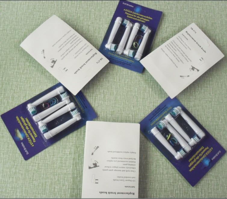 горячее надувательство 4 шт. = 1 упаковка мягкой щетиной eb17-4 со-17а электрическая зубная щетка глав, замена головка щетки, гигиена полости рта зубная щетка