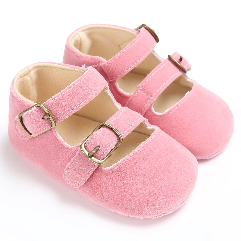 Spring Summer Baby Girls Retro Toddlers Prewalkers Suede PU Shoes Infant Soft Bottom First Walkers 0-18M X24