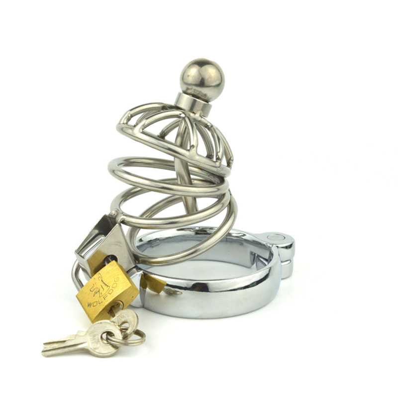 Stainless steel Chastity Device Cock Cages Men\'s V...