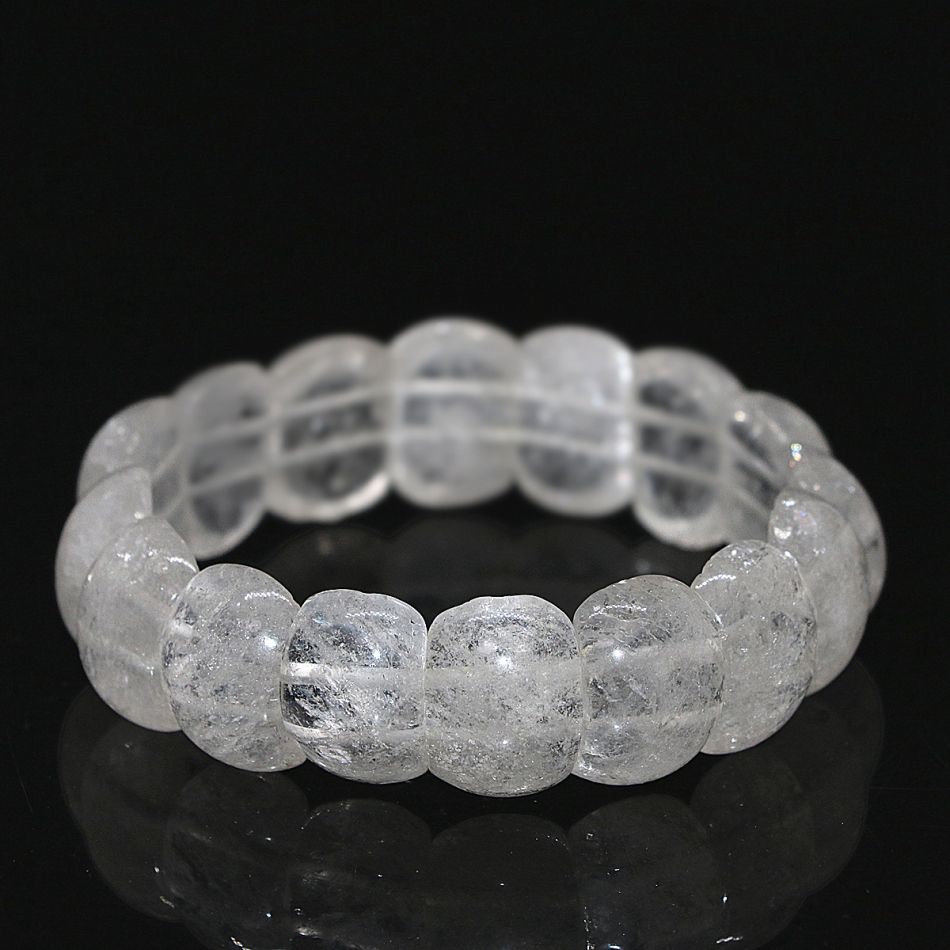 Us 10 29 40 Off High Grade 4 Style Natural White Pink Chalcedony Jades Crystal Stone Rectangle Beads Bangle Bracelet Women Jewelry 7 5inch B1684 In