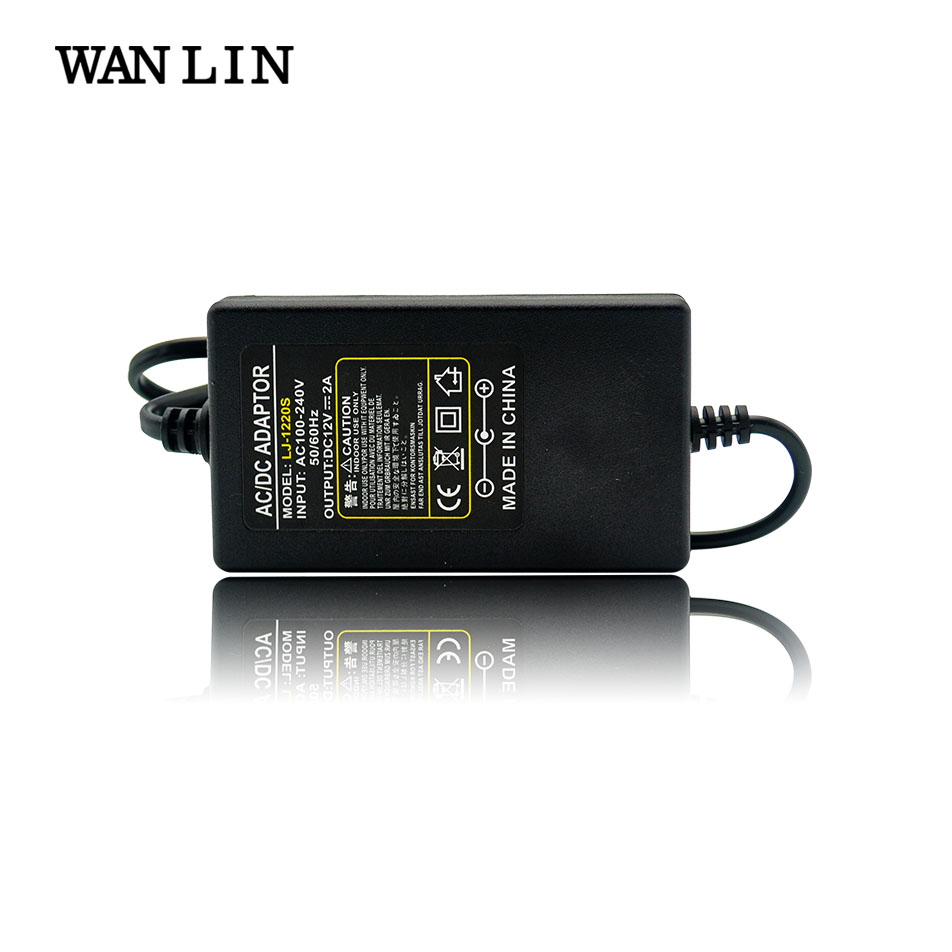 WANLIN US EU Plug 12V2A AC 100V-240V Power Adapter DC 12V2A Power Supply for CCTV AHD IP Camera DVR NVR 5.5mm x 2.1-2.5mm eu plug ac 100v 240v 12v 2a power supply adapter for security cctv ip camera routers hubs led strip 5 5 2 1mm freeshipping