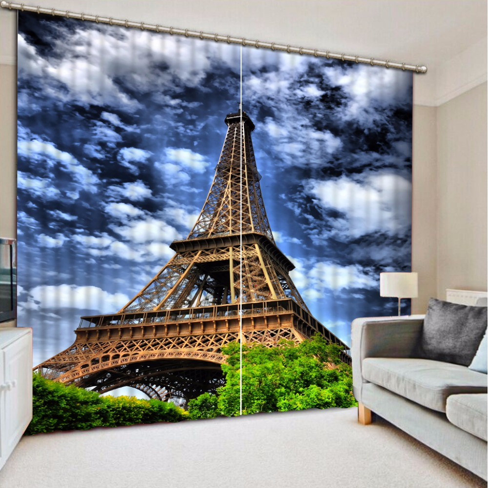 3D Curtain Custom Any Size Blackout Shade Window Curtains Transmission Tower Bed Room Living Room Office Hotel Cortinas