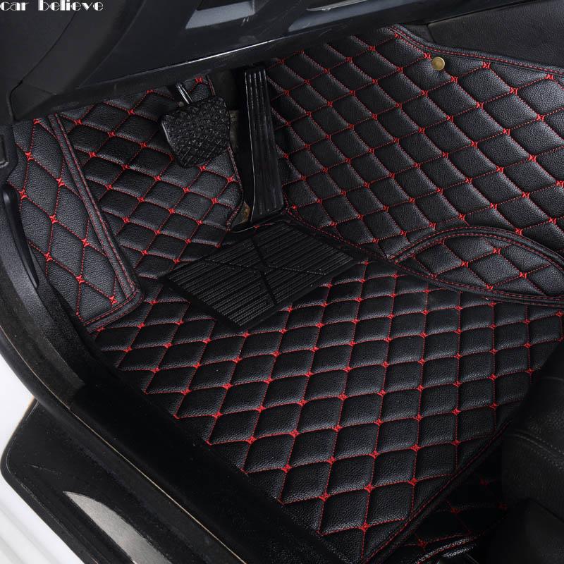 Crois Auto voiture tapis de sol tapis de Pied de voiture Pour pajero sport 4 grandis lancer outlander xl 2017 2013 accessoires de voiture étanche tapis