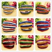 "YJHSMY 5/8 ""16mm Rainbow colors glitter elastic FOE, DIY handmade jewelry materials, wedding gift packaging materials,MD1"
