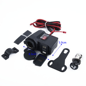 Image 2 - Wasserdicht 12V Motorrad Dual USB Ladegerät Zigarre Leichter Buchse W/LED Voltmeter zubehör teile für motorräder
