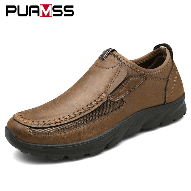 Men casual shoes loafers sneakers 2019 new fashion handmade retro leisure loafers shoes zapatos casuales hombres men shoes