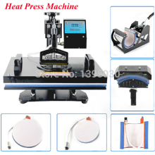 1pc 6 in 1 30*38cm T-shirt Swing Away Heat Press Machine/ Shaking Head Heat Transfer Sublimation Machine