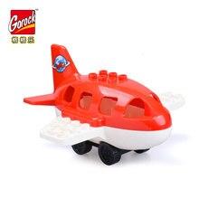 Duplos aeroporto avião Modelo de aeronave grande figura Kit Areas de construção de Blocos de Construção crianças brinquedos educativos para legoe Presente das crianças