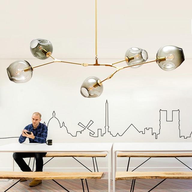 modern glass ball chandelier lighting Adelman Lindsey hanging lamp 3 ...