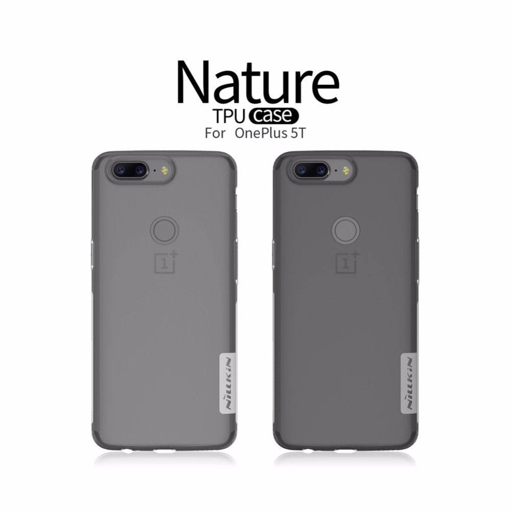 oneplus 5t case cover 6.01 inch NILLKIN Nature Transparent Clear Soft silicon TPU Protector cover one plus 5t case one plus 5 t