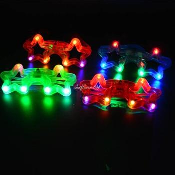 48PC LED Flashing Glasses Glowing Eye Glasses Light  Adult Kids Toys Glow Party    Random Color Christmas Halloween  navidad