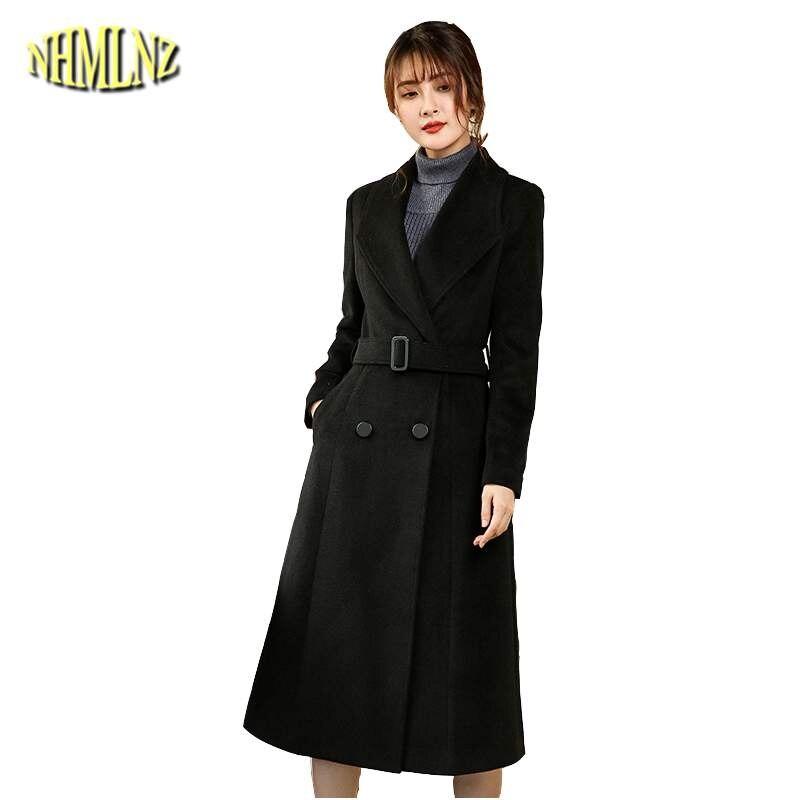 Femmes Mince Manteau Qualité Hiver Tempérament 2019 Mode De Black Survêtement Haute Neuf Élégantes Automne Laine Ly621 Noir Veste 7EFOqFw