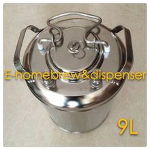 Brand New Stainless Steel 304 Ball Lock Cornelius style Beer Keg 9L , Closure Lid with Pressure Relief Valve