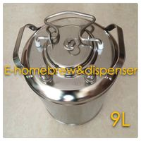 Brand New Beer Keg,304 Stainless Steel, Ball Lock Cornelius Style Keg , Closure Lid with Pressure Relief Valve