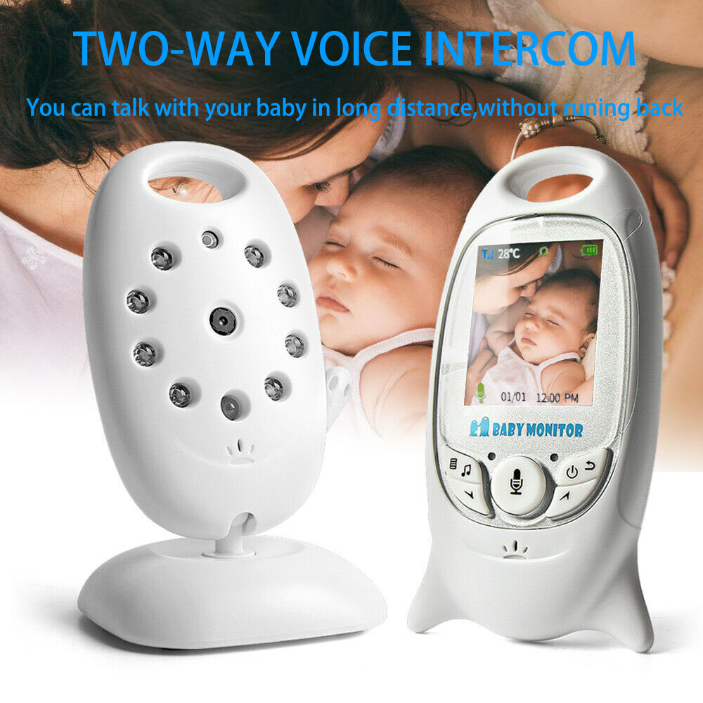 Wireless Baby Monitor 2 0 inch LCD Screen Camer Babysitter Radio Video Nanny Camera Night Vision
