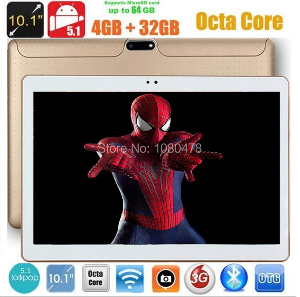Android tablet pc 10 inch Octa Core 4G RAM 32GB ROM 1280*800 IPS 5.0MP Bluetooth GPS 4G LTE 3G WCDMA tablets+Gifts DHL Free планшет irbis tz82 4 1 3ггц 1гб 8гб 8 1280 800 ips wifi bluetooth gps 3g android 4 4 черный