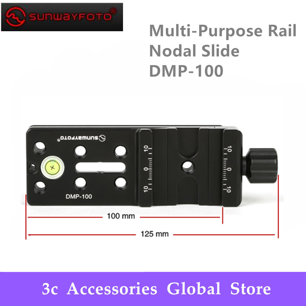 SUNWAYFOTO Multi Purpose Rail Nodal Slide DMP 100R DMP 10 Tripod Head Quick Release Plate for