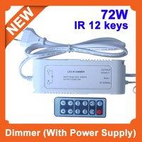 Spedizione gratuita! 5 pz/lotto, 85-265 V input, impugnatura del telecomando senza fili IR dimmer con powersupply per la striscia principale