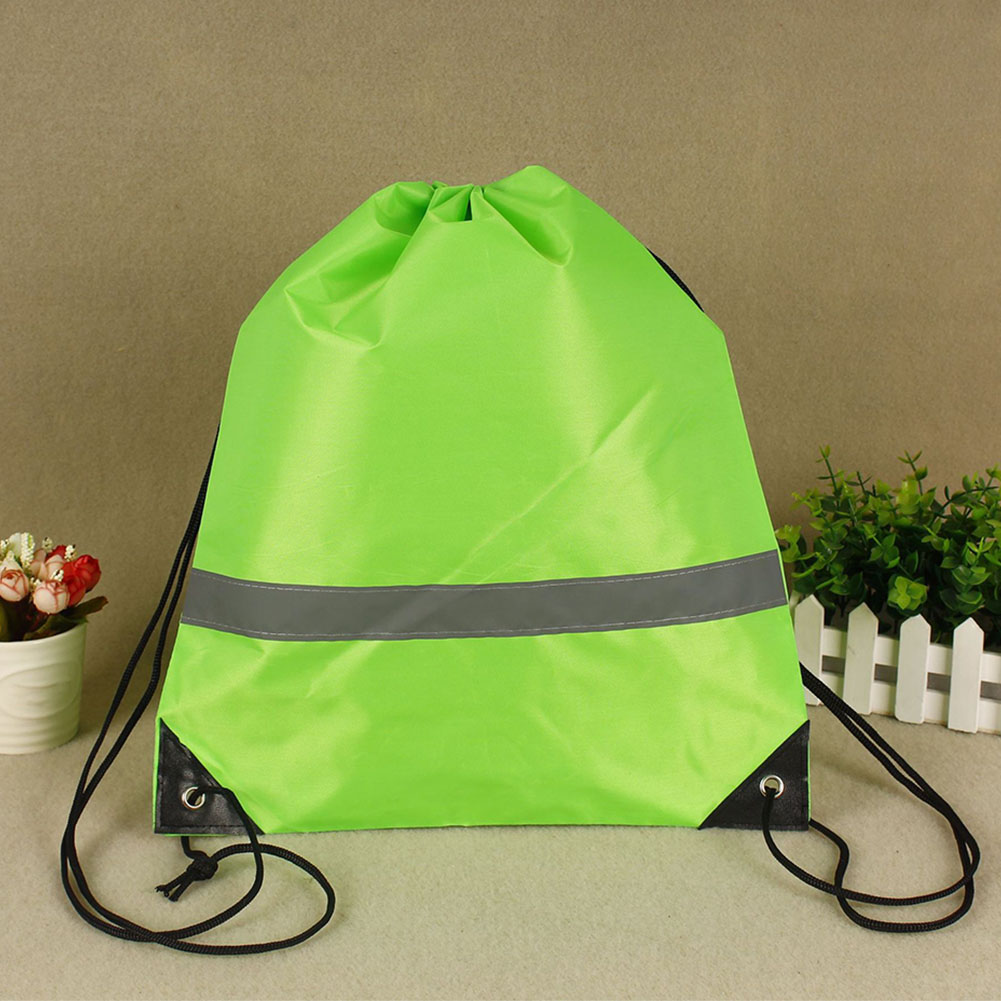 10 Pcs Sport Large Capacity School Storage Camping Gift Reflective Strap Walking Drawstring Bags Outdoor Travel Gym Pouch