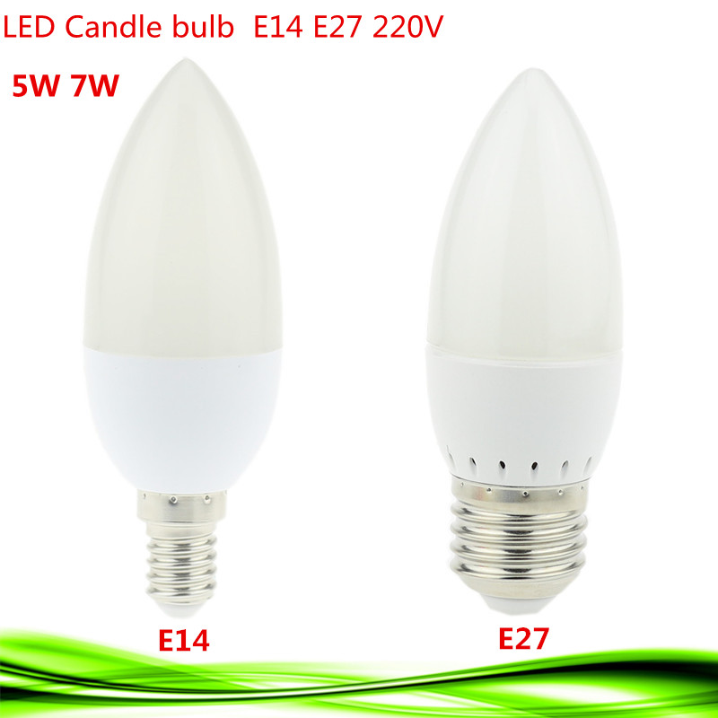1x cost price led candle lamp e14 e27 5w 7w 220v spotlight smd2835 led bulb light chandlier Led light bulb cost