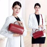 Роскошные новые дизайнерские женские сумки из натуральной кожи высокого качества, простые повседневные круглые жесткие ручки, женская сум