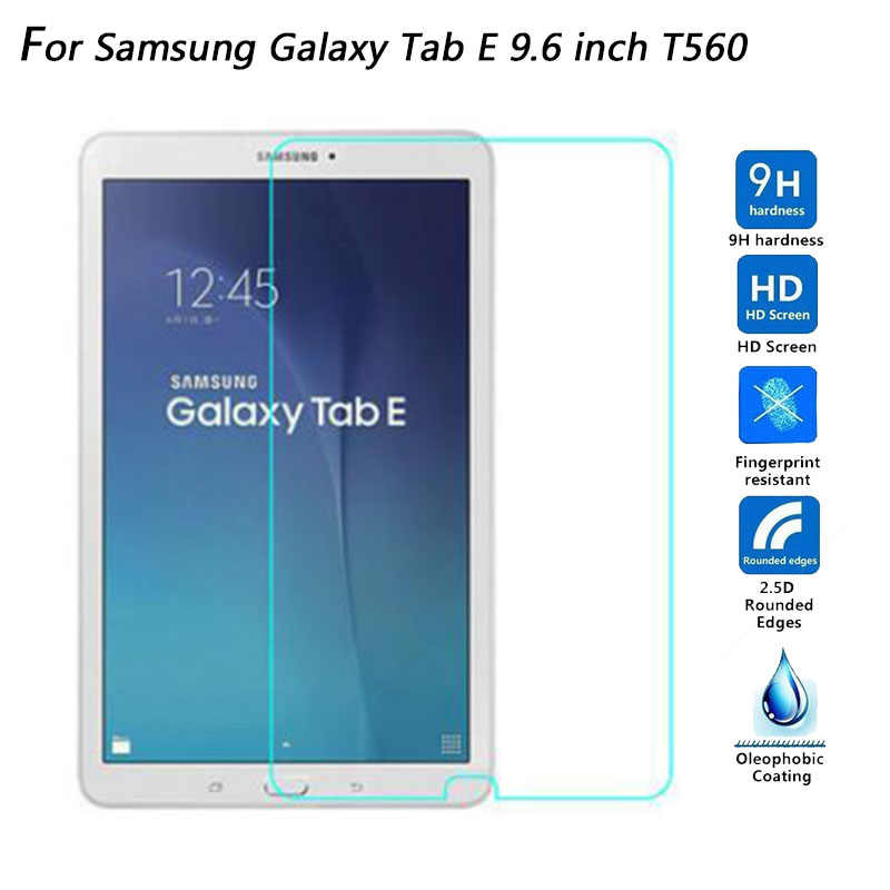 "9H Hardness 2.5D Explosion-Proof Tempered Glass Screen Protector For Samsung Galaxy Tab E 9.6"" SM-T560 / T561 Glass film"