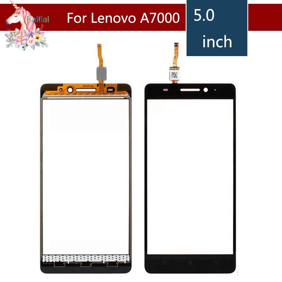 """10 шт./лот 5,0 """"для Lenovo A7000 K3 Note k50-t5 ЖК-дисплей графический сенсорный экран Внешний Стекло объектив Панель Замена"""