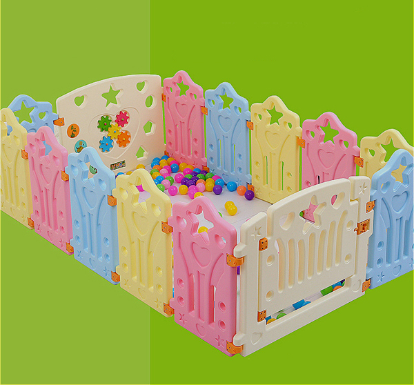 Square Kids Plastic Fence Baby Game Fence Playpen Crawling Baby