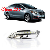 ShenLao 1 Set For kia K3 KIA 2012 2013 Car LED DRL Daytime Running Lights 12V Fog Lamps car accessories
