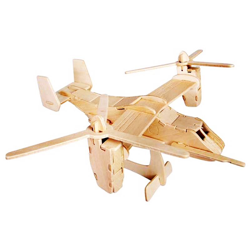 A Toys For Children 3D Diy Wooden Puzzle V-22 Osprey Kids Toys Also Suitable Adult Game A Best Hobby Gift Of High Quality Wood